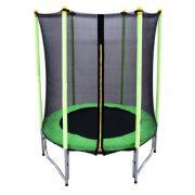 Capetan® Garden Jump Premium Kindertrampolin von 140 cm Durchmesser für innere und äußere Verwendung mit W-Beinen, verzinktem Gestell und Sicherheitsnetz