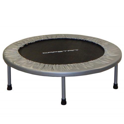 Capetan® Fit Fly Silver 97 cm Zimmertrampolin – 100 kg Belastbarkeit, Federabdeckung von Premiumkategorie