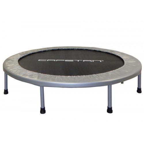Capetan® Fit Fly Silver 140 cm Zimmertrampolin – 100 kg Belastbarkeit, Federabdeckung von Premiumkategorie