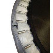 Capetan® Fit Fly Silver To Fold 122 cm faltbares Trampolin mit silberfarbener Federabdeckung – 100 kg Belastbarkeit