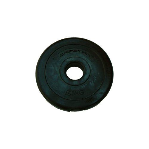 Capetan® 0,5 kg Hantelscheibe aus Vinyl – 0,5 kg Hantelscheibe mit Zement (1 Stck.)