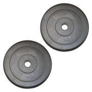 Capetan® 2,5 kg Hantelscheibe aus Vinyl – 2,5 kg Hantelscheibe mit Zement (1 Stck.)