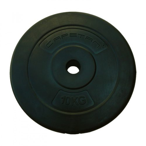 Capetan® 10 kg Hantelscheibe aus Vinyl – 10 kg Hantelscheibe mit Zement (1 Stck.)