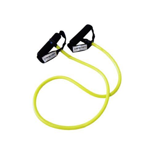 Capetan® Elastische Fitnesstube mit weichem Handgriff aus Schaum, MITTELSTARK