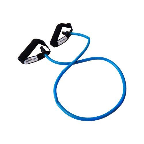 Capetan® Elastische Fitnesstube – Gummiseil – mit weichem Handgriff aus Schaum, STARK
