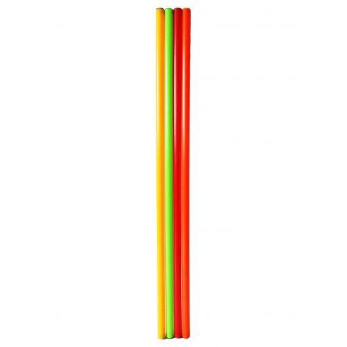 Capetan® 100 cm lange Balancierstange, 4-er Set, mit gelber, grüner, orangener und roter Farbe