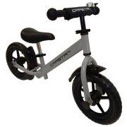 """Capetan® Energy Plus silberfarbenes Laufrad mit 12"""" Rädern mit Schutzblech und Klingel – Kinderfahrrad ohne Pedal"""