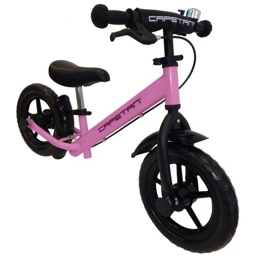 """Capetan® Neptun Pinkfarbenes mit Bremse versehenes Laufrad mit 12"""" Rädern mit Schutzblech und Klingel – Kinderfahrrad ohne Pedal"""