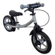"""Capetan® Sirius Premium Line Silberfarbenes mit Bremse versehenes Laufrad mit 12"""" Rädern mit Schutzblech und Klingel – Kinderfahrrad ohne Pedal"""