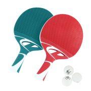 Cornilleau Tacteo Duo Pack, aus Komposit, Tischtennisschläger-Set mit Bällen