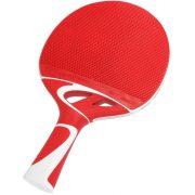 Cornilleau Tacteo 50 Tischtennisschläger für Außenraum, rot/weiß, ultra wetterfest