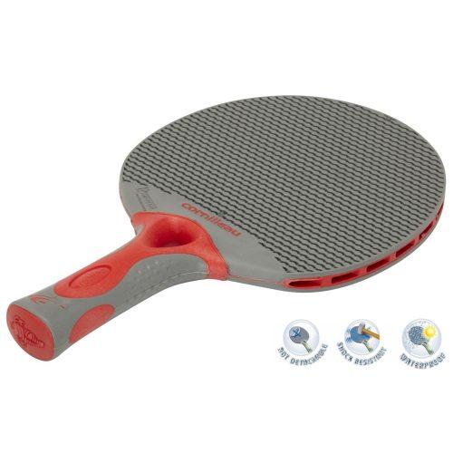 Cornilleau Tacteo 50 Tischtennisschläger für Außenraum, rot/grau