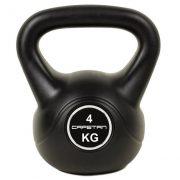 Capetan® 8 kg Kettlebell aus Kunststoff  - Kugelhantel mit Zement Füllung, mit Kunststoff Überzug.