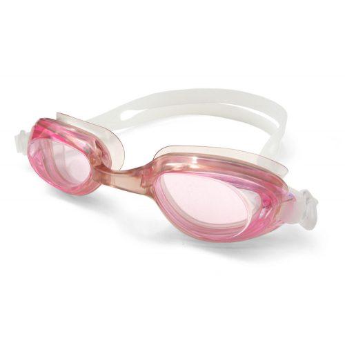 Golfinho Schwimmbrille für Kinder mit Silikonband – durchsichtige Linsen mit leichter rosa Färbung