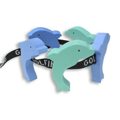 Schwimmgürtel mit 5 Figurschwimmern für Kinder, Delfin-Form – unter 12 Jahren, bei 30-60 kg Körpergewicht empfohlen