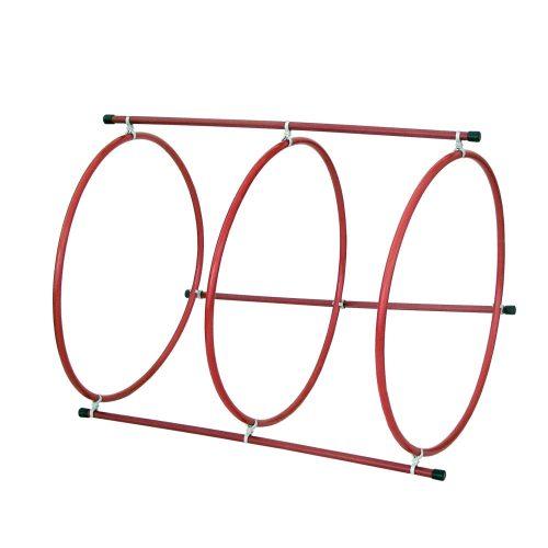 Golfinho Tauchtunnel, der 100 cm lang gebaut werden kann – aus 3 Stck. beschwerten Tauchringen mit 75 cm Durchmesser und Binderohren
