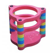 Golfinho schwimmender Wasser-Basketballkorb – 65x65 cm, aus EVAC Schaum