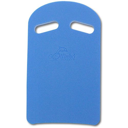 Schwimmbrett mit Haltegriffen – Golfinho Eurokick: Größe L, 47 x 28 x 3 cm, mehrschichtiger retikulierter Schaumstoff, blaue Farbe, die günstigste Preiskategorie
