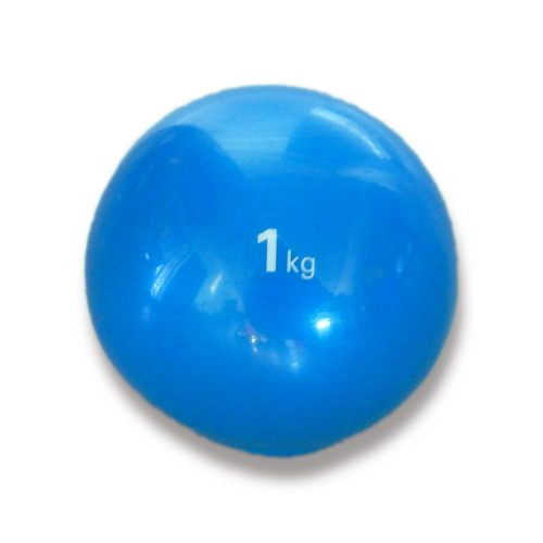 Capetan® Medizinball mit sanftem Tasten – 1 kg, weicher Medizinball, Medizinball aus Gummi