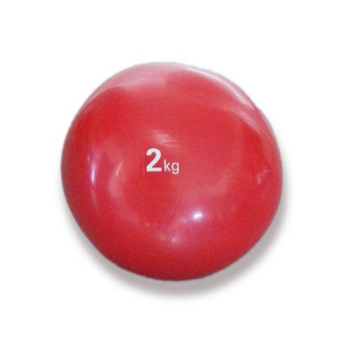 Capetan® Medizinball mit sanftem Tasten – 2 kg, weicher Medizinball, Medizinball aus Gummi