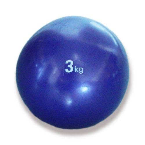 Capetan® Medizinball mit sanftem Tasten – 3 kg, weicher Medizinball, Medizinball aus Gummi