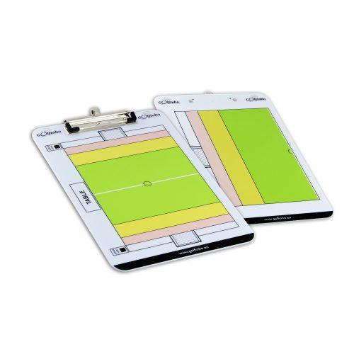 Wasserball-Taktikmappe für ein Spiel auf halbem sowie ganzem Spielfeld: beschreibbare, zweiseitige Ausführung, 32x23 cm