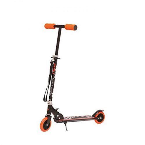 Nextreme Raptor Rally Kick Roller mit 120 mm großen Rädern – zusammenklappbarer Aluroller mit Schultertrage, orangener Farbe, max. 86 cm hoher Lenkstange