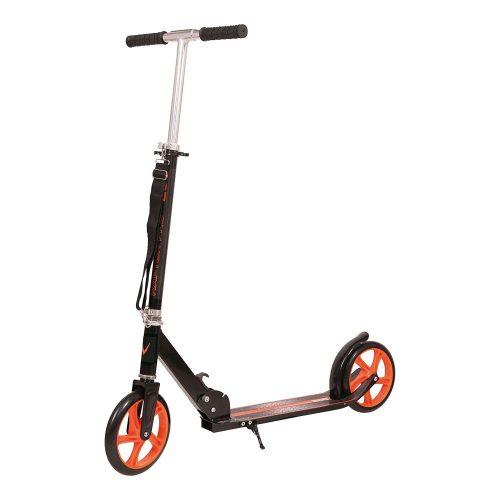 Garlando Raptor Pro 200 zusammenklappbarer Roller aus Aluminium mit 200 mm Durchmesser Rädern und einer Schultertrage – 100 cm hohe Lenkstange