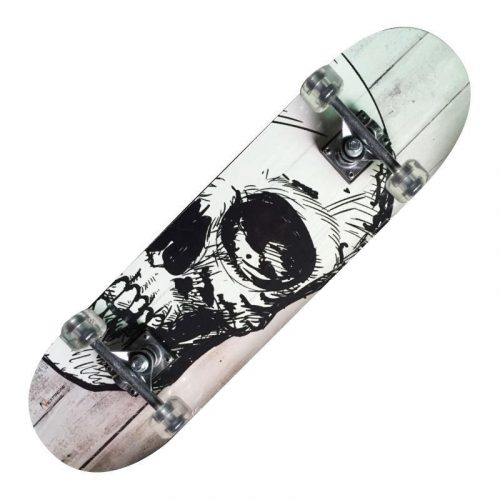 Garlando Nextreme White Skull Rollbrett