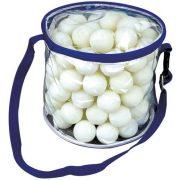 Garlando Meteor 100 Stck. * Pingpongbälle für Freizeitverwendung in Balltasche, für Trainings in Schulen