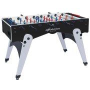 Garlando Foldy Evolution zusammenklappbarer Fußballtisch mit Tragrahmen – schwarz