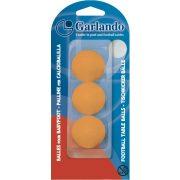 3 Stck. Garlando orangene Standard-Kickerbälle in Gehäuse