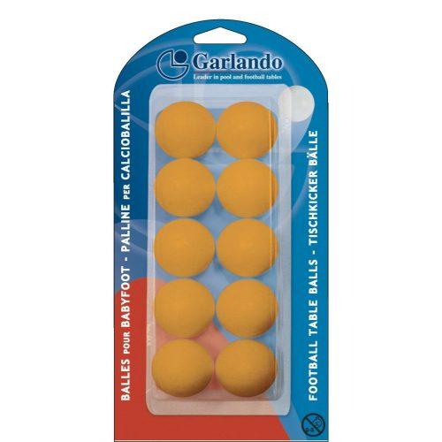 10 Stck. Garlando orangefarbene Standard-Kickerbälle in Gehäuse