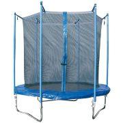 Garlando Combi M 244 cm Sicherheitstrampolin für den Außenraum – extra sicheres, niedriges (60 cm hohes) Trampolin mit Sicherheitsnetz