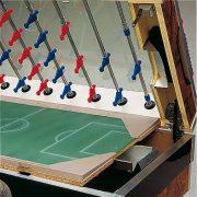 Garlando Olympic Münzprüfer-Fußballtisch mit Teleskopstangen und LED-Beleuchtung