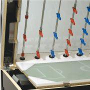 Garlando Olympic Silver Münzprüfer-Fußballtisch mit LED-Beleuchtung