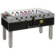 Garlando Olympic Silver Münzprüfer-Fußballtisch mit Teleskopstangen und LED-Beleuchtung
