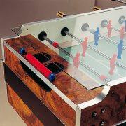 Garlando Coperto Münzprüfer-Fußballtisch mit Teleskopstangen