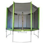 Capetan® Modern Fly 305 cm Durchm. Gartentrampolin mit gebogener Beinstruktur gegen Umkippung mit extra hohem Sicherheitsnetz und PVC Bezug an den Netzstangen, mit hohem Sprungtuch