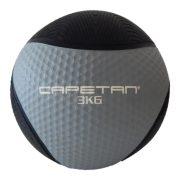 Capetan® Professional Line 3 kg springender Medizinball aus Gummi (auf Wasser schwimmend)
