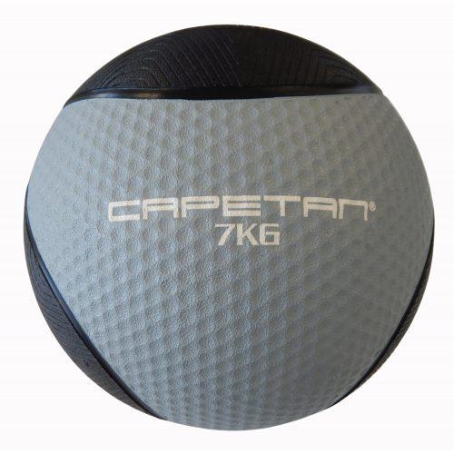 Capetan® Professional Line 7 kg springender Medizinball aus Gummi (auf Wasser schwimmend)