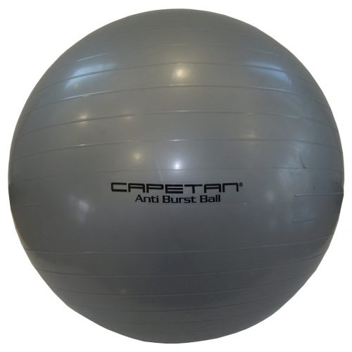 Capetan® Classic 65 cm Durchm. Gymnastikball in silberner Farbe – Fitnessball