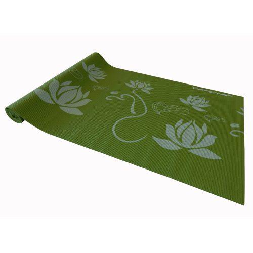 Capetan® PVC Jogamatte 173 x 61 x 0,4 cm in grüner Farbe mit Mustern