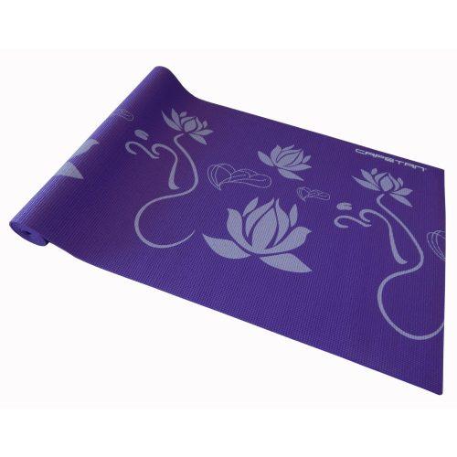 Capetan® PVC Jogamatte 173 x 61 x 0,5 cm in lila Farbe mit Mustern