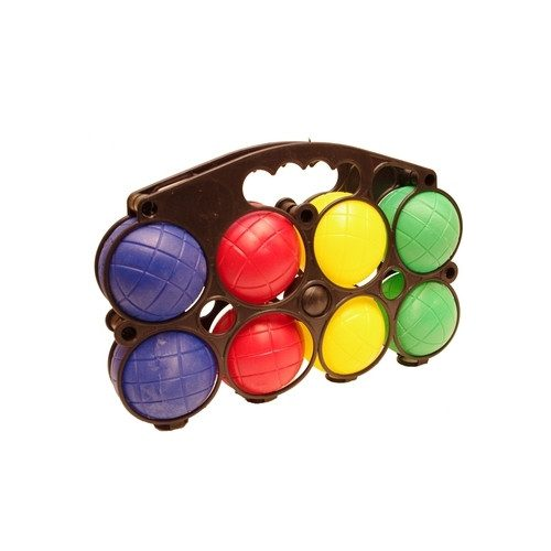 Bocciaset mit Plastikkugeln – 8 Stck. mit Wasser gefüllte Kugeln mit einem Durchmesser von 7,2 cm, 1 Stück Zielkugel