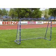 Hobby-Fußballtor aus Metall – 240 x 160 cm, leicht zusammenstellbar aus 3,8 cm Metallrohren mit federnden Stiften, gut transportierbares mobiles Tor