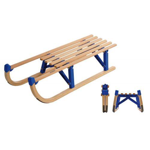 Innsbruck klappbarer Holzschlitten in 100 cm langer Ausführung