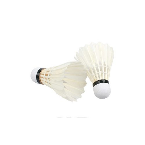 Federbälle – 6-er Packung, mit weißen Naturfedern und Korkeinsatz im Kopfteil