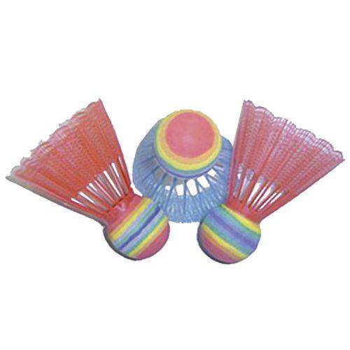 Neonfarbene Federbälle – 3-er Packung, mit extra großem Kopf