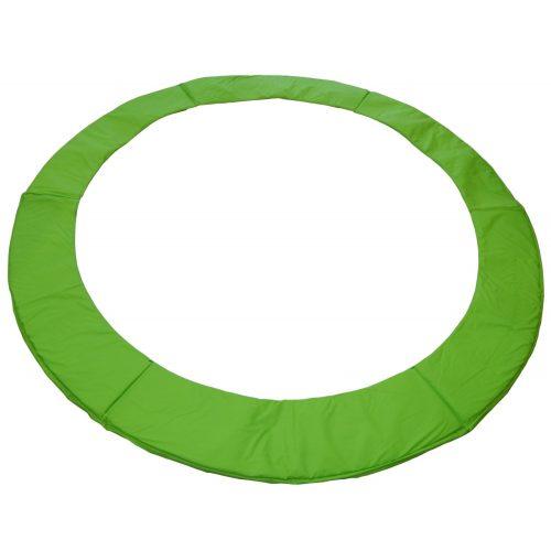 Capetan® 305 cm Durchm. limettengrüne PVC Trampolin Federabdeckung mit 20 mm dicker Polsterung: 26 cm breite Schutzrandabdeckung mit 23-24 cm breiter innerer Polsterung